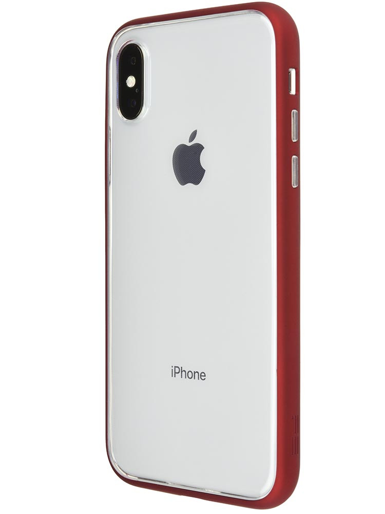 Shock Proof Air Jacket for iPhone X Rubber Red Back-side with iPhone X