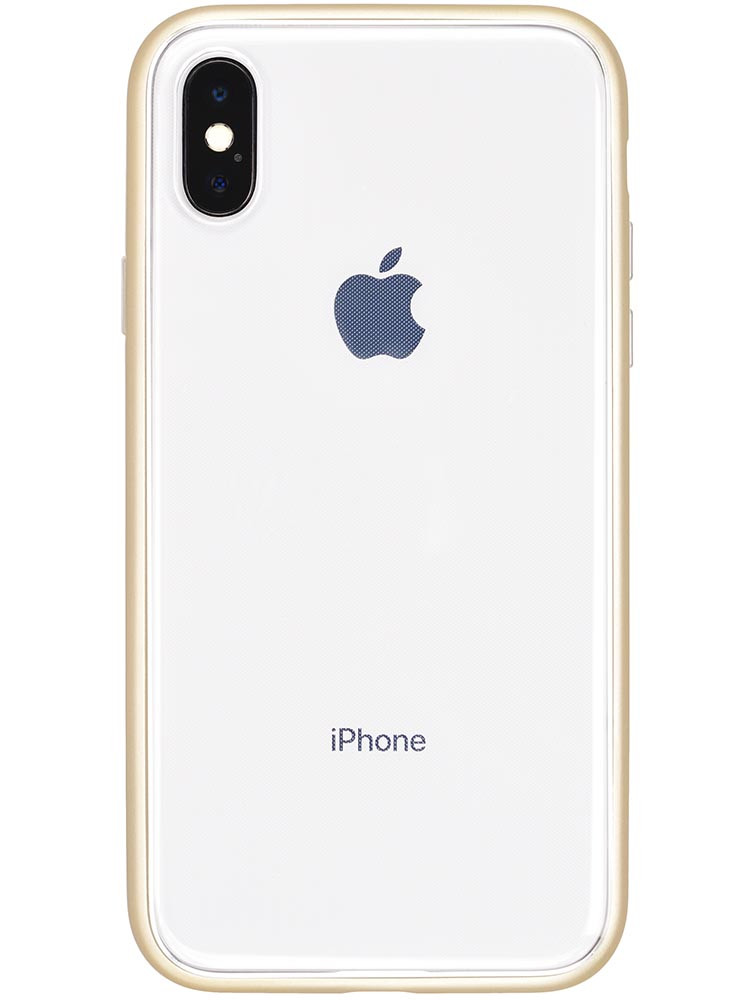 Shock Proof Air Jacket for iPhone X Rubber Gold Back with iPhone X
