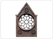 Rose Steeple (four quarters plus tracery) (Painted)