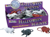Box of Assorted Rats (24 Pieces) Halloween Rubber Prop