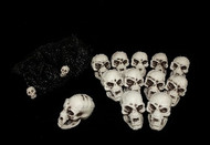 Bag of 12 Small Skulls Halloween Prop
