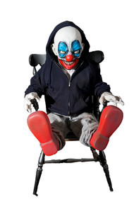 Giggles Animated Latex Prop - Scary Clown
