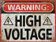 High Voltage THICK Sign - Halloween Decor Prop Road and Lawn Decoration