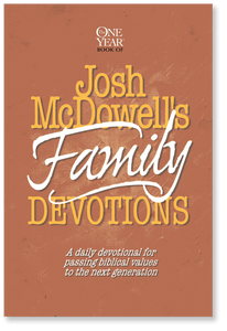 One Year Book of Josh Mcdowell's Family Devotions.  Paperback Book