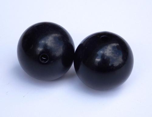 Outrigger balls set of 2 1 black plastic balls for Balls deep fishing weights