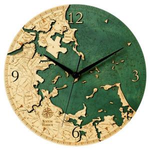 Boston Harbor Wall Clock