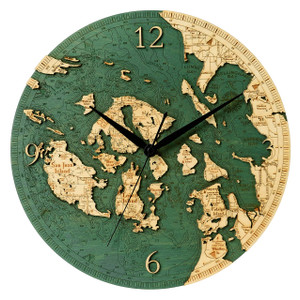 San Juan Islands Wall Clock