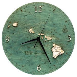 Hawaiian Islands Wall Clock