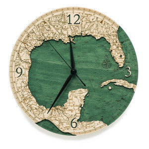 Gulf of Mexico Wall Clock