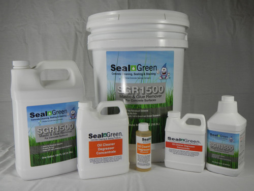 SealGreen SCR1500 Mastic and Adhesive Remover for Concrete with Oil Cleaner Degreaser