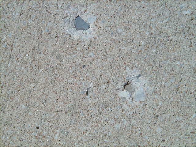Holes In Concrete Driveway Lignite Or Shale Problem