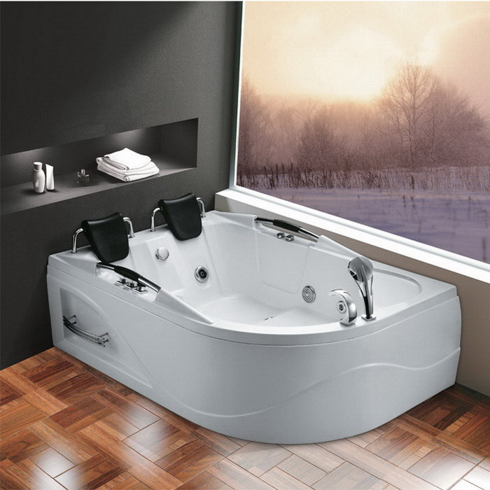 Active Home Centre Two Person Whirlpool Bathtub in White (07KO-K1021)