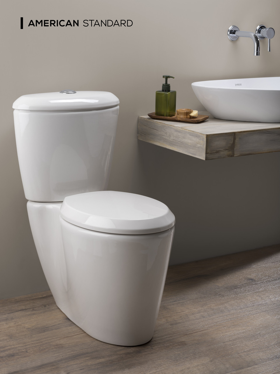 American Standard Elemento 2-Piece Elongated Front Toilet in White ...