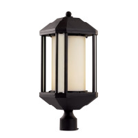 Active Home Centre Reveal 1 Light Post Mount in Black