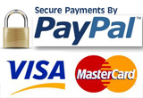 PayPal Visa MasterCard Logos
