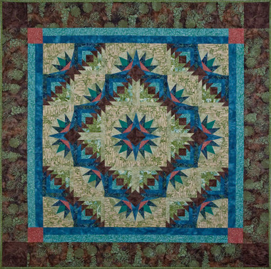 Bright Star Flower Batik Quilt Pattern Using 6 Quot Quick