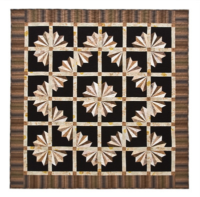 fan dance quilt pattern uses the 8 rainbow template by backporch