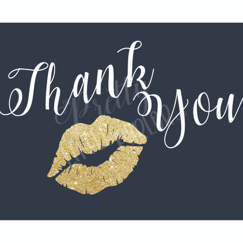 Thank You Inserts - Navy, White & Gold