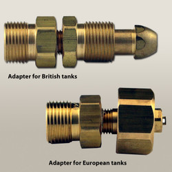 Oxygen Tank Regulator Adapters for British and European Tanks
