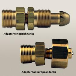 Oxygen Tank Regulator Adapters for British and European Tanks