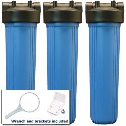 20 Inch Three Stage Whole House Water Filtration System