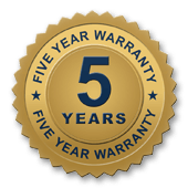 5 year warranty seal