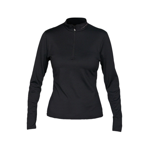 Women's Micro-Elite Chamois Zip-T - Black
