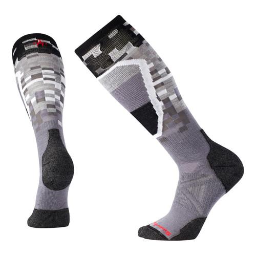 PhD Ski Medium Pattern Socks - Graphite