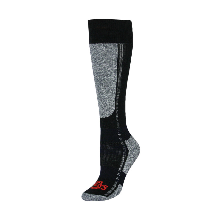 Women's Classic Mid Volume Sock - Black Heather - M