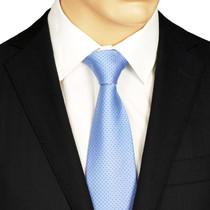 Blue Dotted Silk Tie