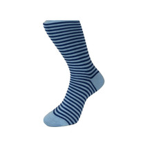 Blue Striped Socks
