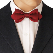 Red Diamond Point Bow Tie