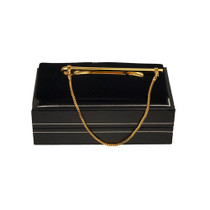 Gold Tie Bar With Chain