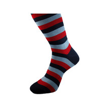Michel Rouen Socks Blue And Red Striped