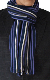Purple Striped Scarf