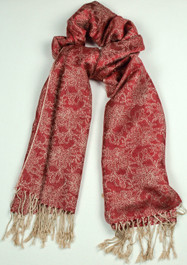 Ladies Red Scarf