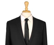 Skinny Black Silk Tie