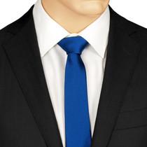 Slim Blue Silk Tie