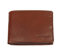 Leather Wallet Dark Brown