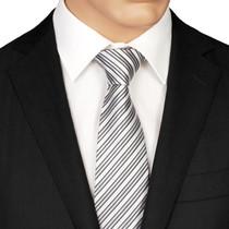 Silver Striped Tie
