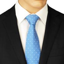 Blue Dotted Necktie