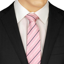 Slim Pink Striped Tie