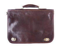 Brown Italian Leather Briefcase