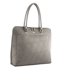 Pewter Leather Tote