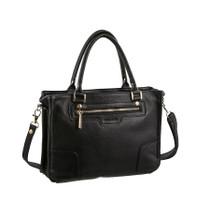 Pierre Cardin Black Leather Handbag