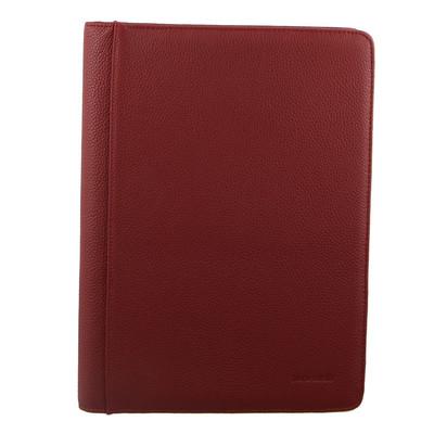 Pierre Cardin Red Leather Portfolio Closed