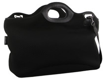 Black Neoprene Tote Rear Image