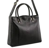 Pierre Cardin Black Leather Shoulder Bag