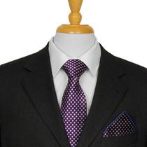 Aubergine Dotted Tie