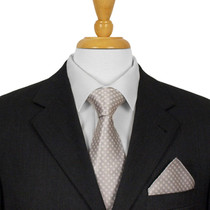 Silver Dotted Ties